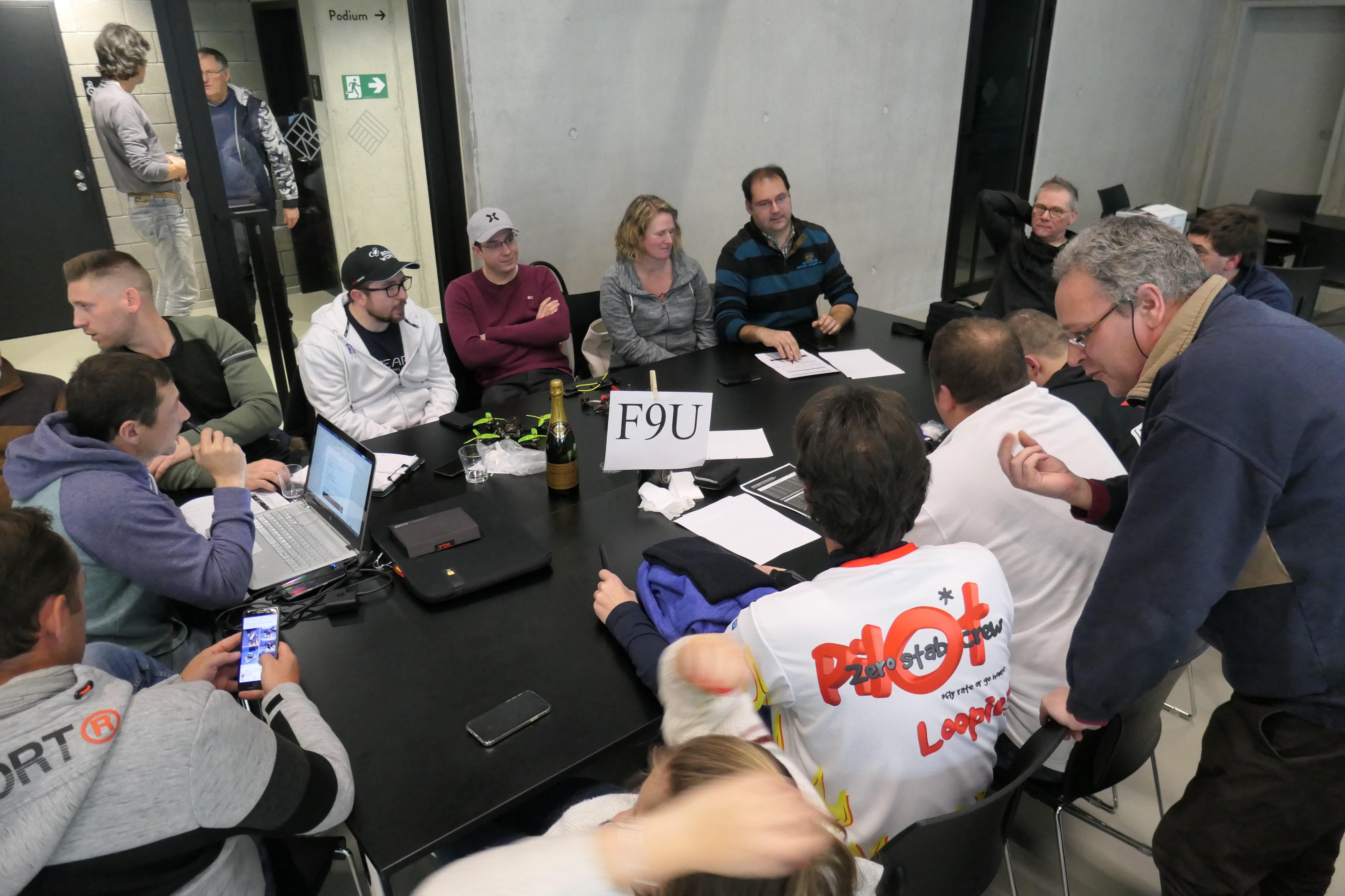 The F9U FPV Racing table