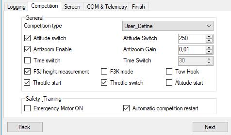 Altis logger for e-F3B